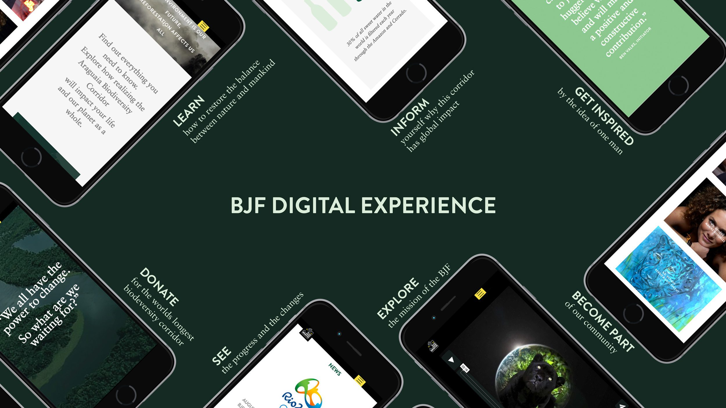 BJF, Black Jaguar Foundation, Digital Experience, Handy Uebersicht